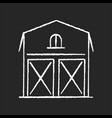 barn chalk white icon on black background vector image