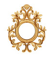 baroque luxury golden frame elegant mirror decor vector image vector image