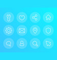 basic linear icons for web and apps vector image vector image