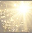 beautiful sparkles and snowflakes christmas vector image