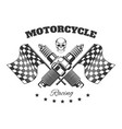 bikers club isolated icon motorcycle racing vector image
