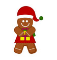 christmas gingerbread cookie character vector image vector image