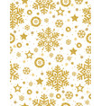 christmas seamless pattern with golden glittering vector image vector image