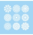 christmas snowflake decoration set isolated on vector image vector image