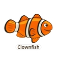 Clownfish sea fish cartoon vector image vector image