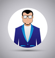 Design icons man on a white background vector image vector image