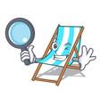 detective beach chair character cartoon vector image