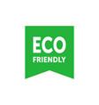 eco friendly green bookmark badge design element vector image vector image