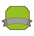elegant badge seal with ribbon vector image