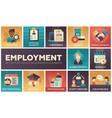 employment - set of flat design infographics vector image