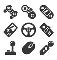 gamepads icons set game controllers on white vector image