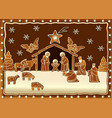 Gingerbread Nativity scene vector image vector image