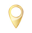 golden map pointer icon vector image vector image