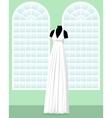 greek wedding dress on mannequin in saloon vector image vector image
