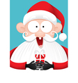 Happy Santa Claus with Gift Cartoon vector image vector image