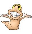 Happy Worm vector image vector image