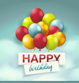 holiday background with balloons sky with white vector image