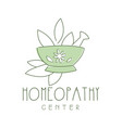 homeopathi center logo symbol vector image vector image