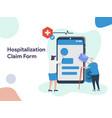 hospitalization claim form vector image vector image