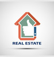 icon design real estate vector image