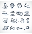 Infographic sketch icons vector image vector image