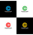 letter c in circle logo icon flat and vector image