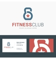 Logo and business card template for fitness club vector image vector image