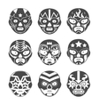lucha libre mexican wrestling masks icons set vector image vector image