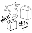 milk symbols set collection vector image vector image