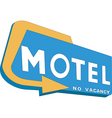motel sign vector image vector image