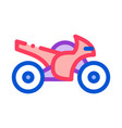 motorcycle icon outline vector image vector image