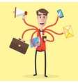 Multitasking Man Party vector image vector image