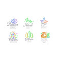 natural medicine logo design collection wellness vector image vector image