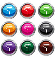 paint roller with paint set 9 collection vector image vector image
