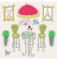 Paris cafe doodle vector image