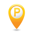 parking sign yellow pointer vector image vector image