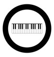 piano keys icon black color in circle vector image vector image