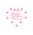 postcard in honor of valentine s day vector image vector image