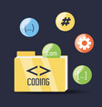 programmig and coding concept language vector image vector image