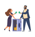 rich people cartoon happy man and woman with vector image