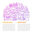scary party line template vector image vector image