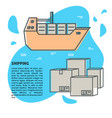 sea freight banner or poster template with place vector image vector image