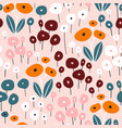 seamless pattern with flowers creative vector image vector image