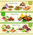 sicilian italian cuisine dishes and desserts vector image vector image