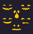 silhouette of scary smug face for pumpkin vector image vector image