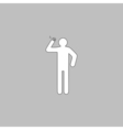 smoker computer symbol vector image vector image