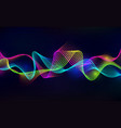 sound wave background abstract audio equalizer vector image