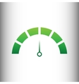 Speedometer sign Green gradient icon vector image vector image