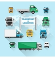 Truck Icons Flat vector image vector image