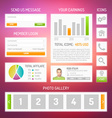 User interface kit vector image vector image